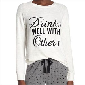 PJ Salvage Drinks Well With Others Soft Pullover